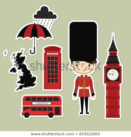 london united kingdom printable collection stock photo © natali_brill