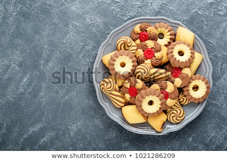 Variëteit cookies chocolade pindakaas voedsel zoete Stockfoto © Digifoodstock