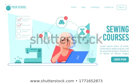 Woman with laptop in tailor's shop Stock photo © dash