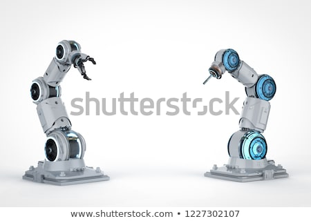 Stockfoto: Robotachtige · mechanisch · arm · 3D · business