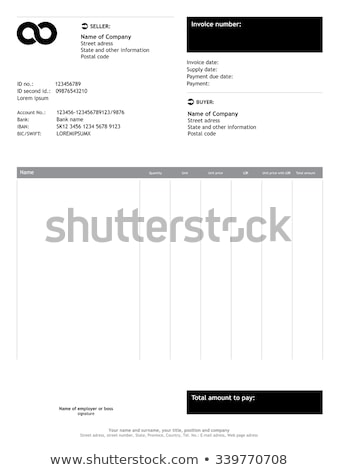 clean gray invoice vector template design stock photo © SArts