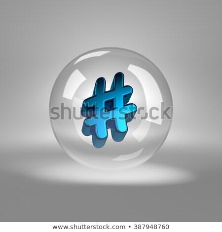 Symbool glas bubble Blauw internet technologie Stockfoto © make