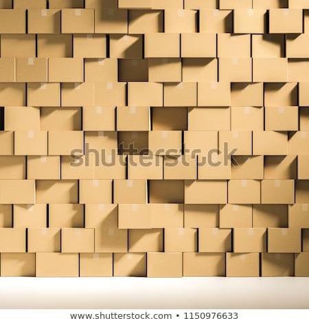 Karton dobozok egymásra pakolva szett csomagok szimbólumok Stock fotó © pakete