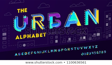 alphabet font made with bold lines Stock photo © SArts