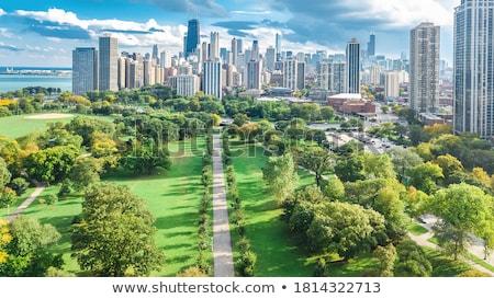 Stadt · groß · Wolkenkratzer · 3D · Rendering · Bild - stock foto © ixstudio