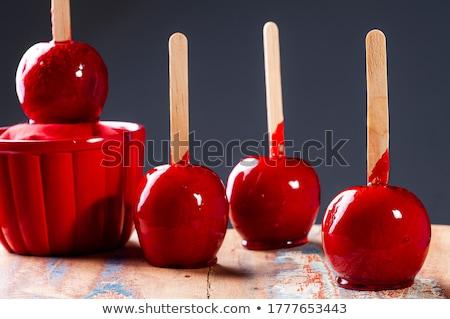 appel · bijten · vorm · hart · illustratie · witte - stockfoto © get4net