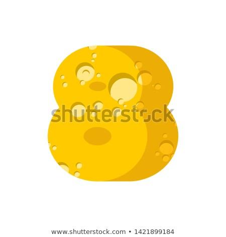 Figura formaggio carattere numerale otto alfabeto Foto d'archivio © popaukropa