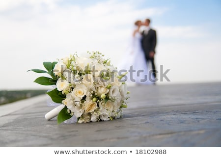 Bride Silhouette Bouquet Wedding Concept Stock photo © Krisdog