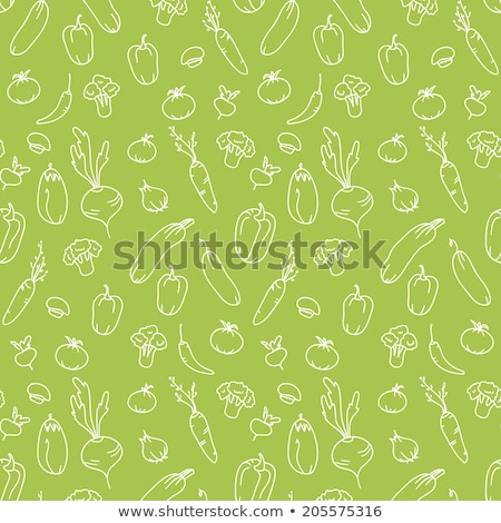 Cucumber seamless pattern. endless background, texture. Vegetable backdrop Vector illustration. Stock photo © lucia_fox