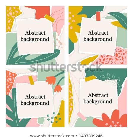 Pastel papier déchiré texture main écrit lettre Photo stock © cammep