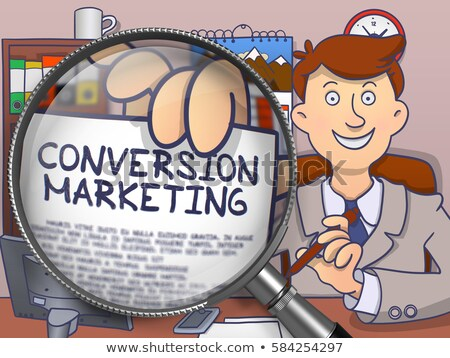 Online Marketing through Magnifier. Doodle Concept. Stock photo © tashatuvango