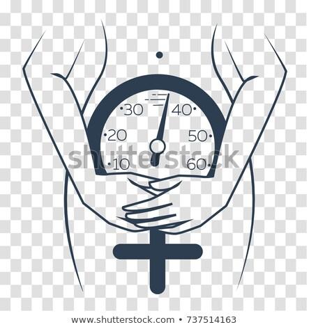 menopausa · mulher · quente · flash · sintoma · equitação - foto stock © olena
