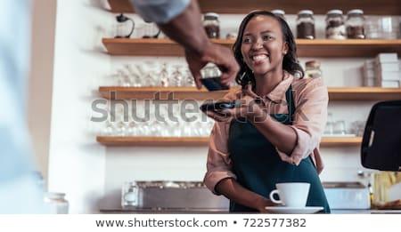 женщины Бариста помогают клиентов бизнеса женщину Сток-фото © IS2