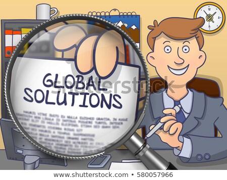 Global Economy through Lens. Doodle Style. Stock photo © tashatuvango