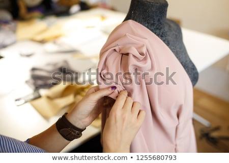 женщины моде дизайнера ткань иглы таблице Сток-фото © wavebreak_media