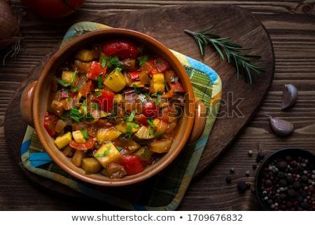 Tomaten Zucchini Essen Abendessen Mittagessen Essen Stock foto © M-studio