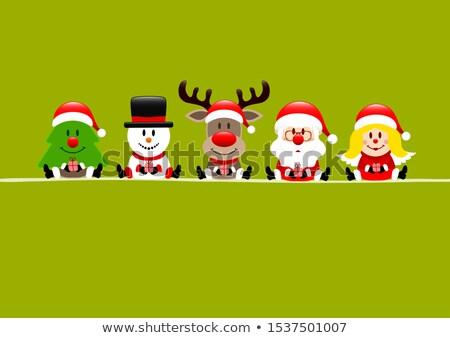 Święty mikołaj christmas prezenty pop art retro Zdjęcia stock © studiostoks