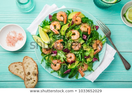 avocado salad with shrimp and vegetable stock photo © m-studio