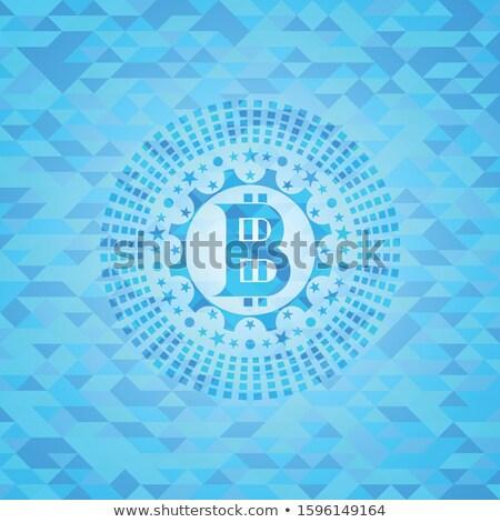 creative bitcoins design with blue light effect Stock photo © SArts