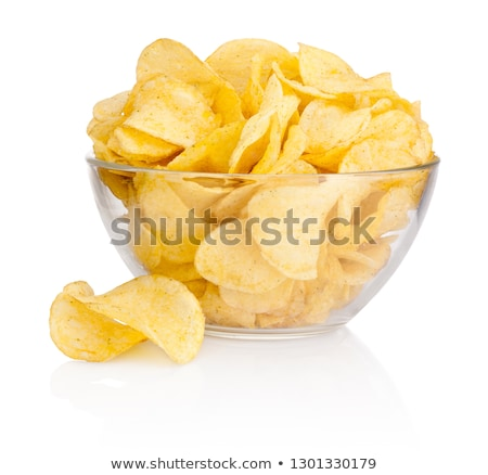 картофельные чипсы чаши серый Vintage Top Сток-фото © YuliyaGontar