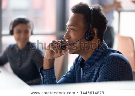 アフリカ系アメリカ人 男性 コールセンター 演算子 着用 ヘッド ストックフォト © NikoDzhi
