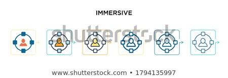futuro · tecnologia · 3D · app · blu · umani - foto d'archivio © sidmay