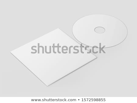 White CD - DVD mockup template isolated on Grey Stock photo © daboost