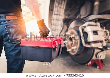 Mechanical Engineer Fixing a Truck Stock photo © bluering