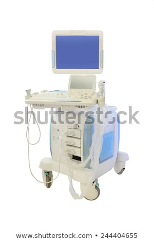 ultra-som · diagnóstico · máquina · ícone · preto · e · branco · criança - foto stock © bluering