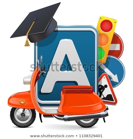 vector · rijden · school · geïsoleerd · witte · weg - stockfoto © dashadima