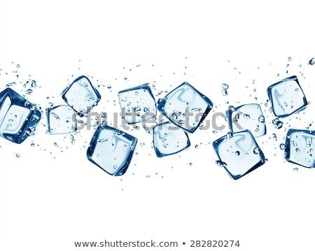 üveg víz jégkockák fehér egészség nyár Stock fotó © Zerbor