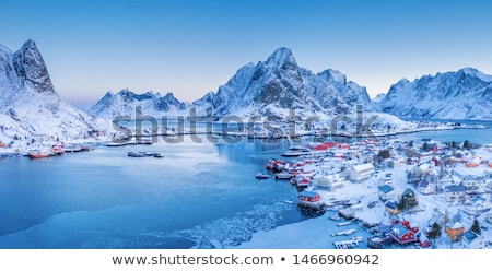 View of the fjord and mountains, Norway Stock photo © Kotenko