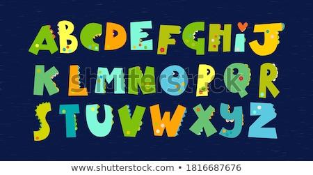 Alphabet Print Fossil Stock photo © lenm