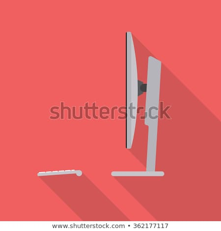 Bilgisayar lcd izlemek yandan görünüş beyaz ofis Stok fotoğraf © rakey