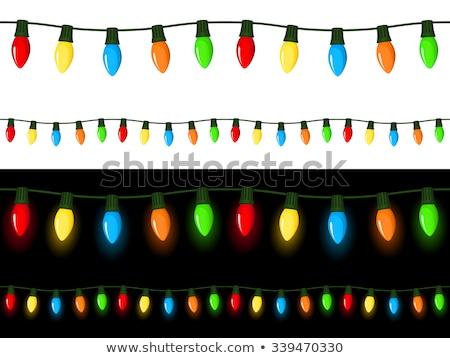 Végtelenített villanykörték izolált fehér háttér csoport Stock fotó © DeCe