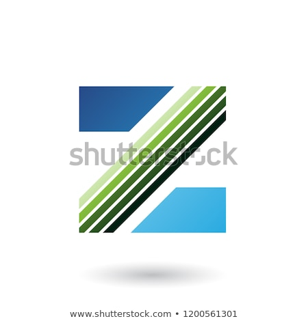 blue and green letter z with thick diagonal stripes vector illus stock photo © cidepix