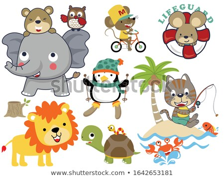 Cartoon Smiling Lifeguard Mouse Stock photo © cthoman