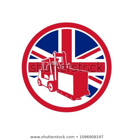Britânico logística union jack bandeira ícone estilo retro Foto stock © patrimonio
