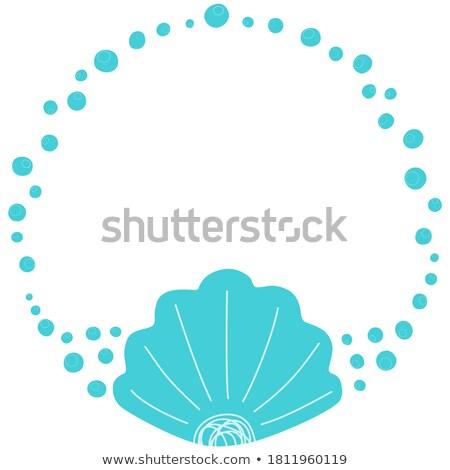 Aquarium Underwater Elements Circle Frame for Text Stock photo © robuart