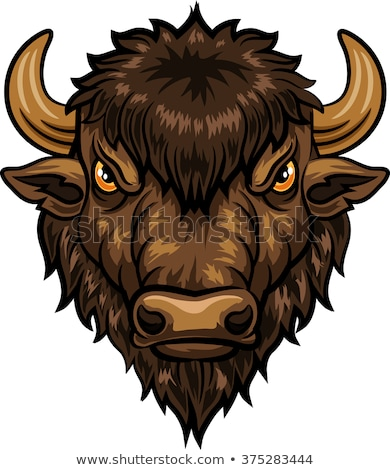 Cartoon Buffalo Angry Stock photo © cthoman