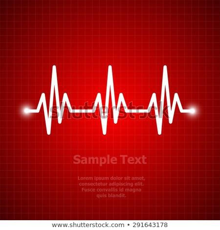 Kalp ritim kırmızı grafik soyut Stok fotoğraf © alexaldo