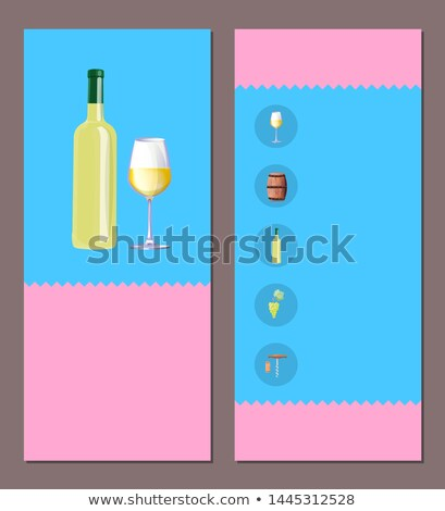 Wine Map Your Choice Vertical Oblong Pages Set Stock photo © robuart