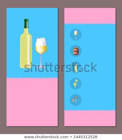 şarap · harita · kapak · fiyatlar · namlu · şişe - stok fotoğraf © robuart