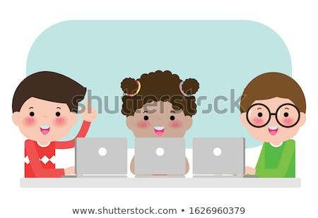 kinderen · klas · studeren · vector · foto · jongens - stockfoto © robuart