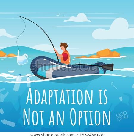 Halászat poszter főcímek szöveg minta napsütés Stock fotó © robuart