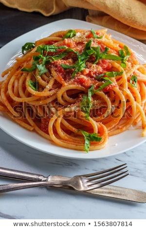 Spaghetti alla Marinara, Spaghetti with Tomato Sauce Stock photo © ildi