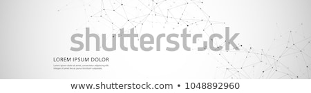 abstract connecting dots and lines with geometric background modern technology connection science stock photo © kyryloff