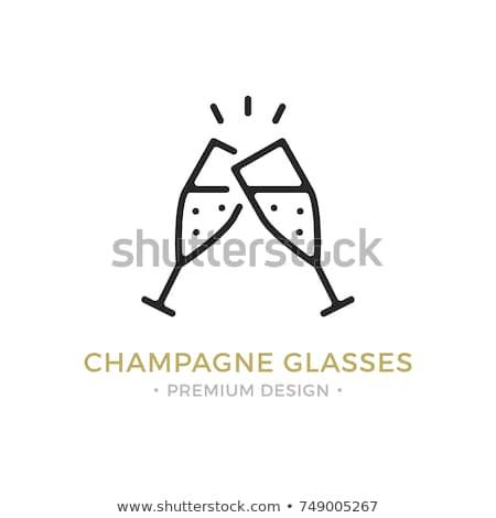 Pareja · gafas · vino · blanco · mujer - foto stock © kzenon