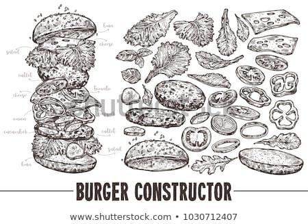 klasszikus · szendvicsek · felirat · stílus · szendvics · grafikus - stock fotó © robuart
