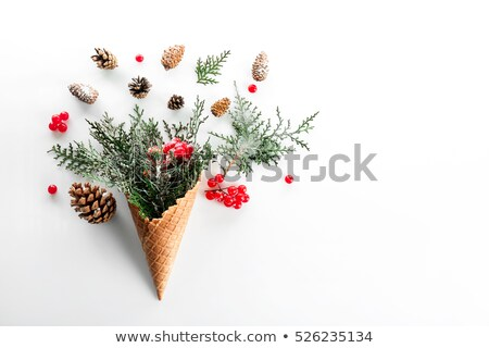 Christmas Composition in a Waffle Cone Stock photo © kostins